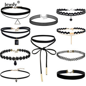 Jewelry - New Lot of 10 Black Choker Necklaces